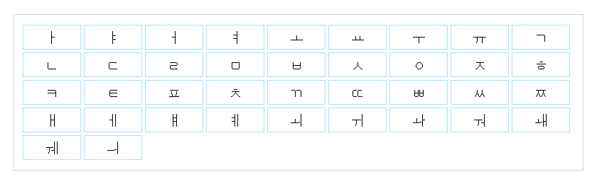 корейский алфавит для малышей в картинках